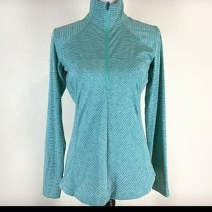 Columbia half-zip teal